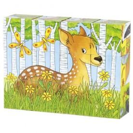 Puzzle de cubes animaux de la forêt
