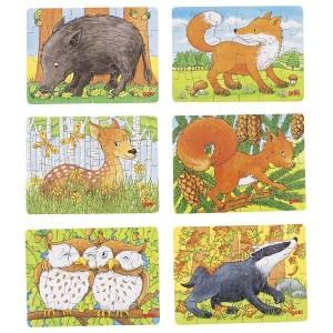 Mini puzzles animaux de la forêt