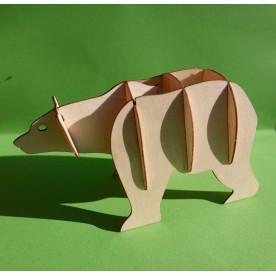 L'ours 3D en bois