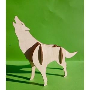 Le loup 3D en bois