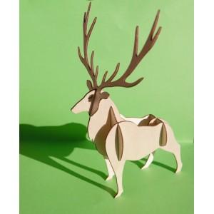 Le cerf 3D en bois