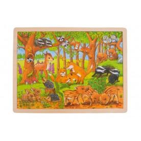 Puzzle bébés animaux dans la forêt