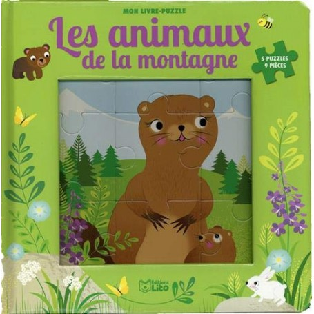 Puzzle Les animaux de la montagne