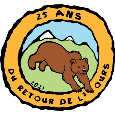 """Lot de 3 autocollants """"25 ans - du retour de L'Ours"""""""